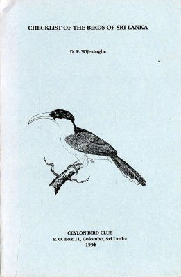 Checklist of the Birds of Sri Lanka