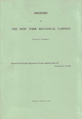 Manual of the Leafy Hepaticae of Latin America