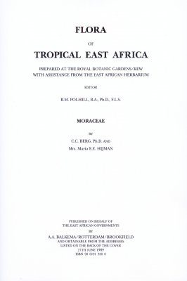 Flora of Tropical East Africa: Moraceae