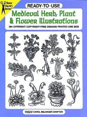 Ready-to-use Medieval Herb, Plant and Flower Illustrations