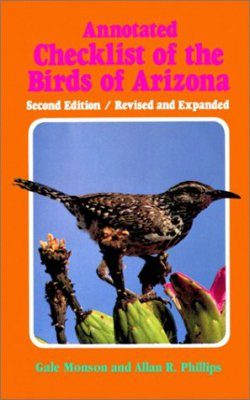 Annotated Checklist of the Birds of Arizona