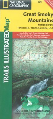 North Carolina: Map for Great Smoky Mountains National Park
