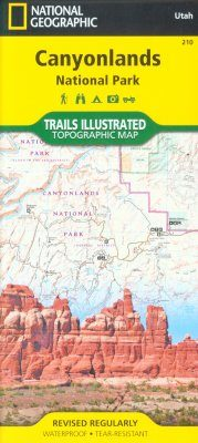 Utah: Map for Canyonlands National Park