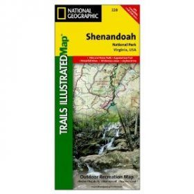 Virginia: Map for Shenandoah National Park