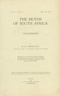 The Moths of South Africa, Volume 5, Part 3 (1951): Gelechiadae (2-Volume Set)