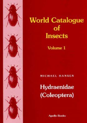 World Catalogue of Insects, Volume 1: Hydraenidae (Coleoptera)