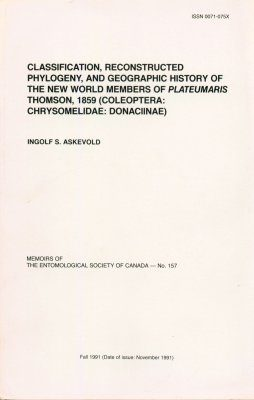 Classification, Reconstructed Phylogeny, and Geographic History of the New World Members of Plateumaris Thompson, 1859 (Coleoptera: Chrysomelidae: Donaciinae)