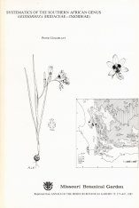 Systematics of the Southern African Genus Geissorhiza (Iridaceae - Ixioideae)