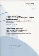 Seminar on the Biology and the Conservation of European Desmans and Water Shrews Image