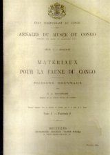Materiaux Pour La Faune du Congo: Poissons Nouveaux, Tome 1 - Fascicule 2 [Materials for the Fauna of Congo: New Fishes, Volume 1, Fascicle 2]