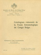 Catalogues Raisonnés de la Faune Entomologique du Congo Belge: Hémiptères, Pentatomidae [Catalogue Raisonné of the Entomological Fauna of the Belgian Congo: Hemiptera, Pentatomidae]