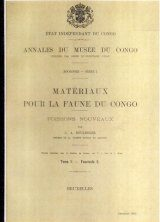 Materiaux Pour La Faune du Congo: Poissons Nouveaux, Tome 1 - Fascicule 6 [Materials for the Fauna of Congo: New Fishes, Volume 1, Fascicle 6]