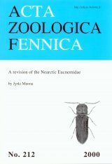 Acta Zoologica Fennica, Vol. 212: A Revision of the Nearctic Eucnemidae Image