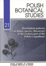 Distribution Patterns of Rubus Species (Rosaceae) in the Eastern Part Of The Polish Carpathians