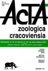 Acta Zoologica Cracoviensia, Volume 45: Proceedings of the 4th Meeting of the ICAZ Bird Working Group Image