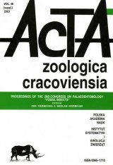 "Acta Zoologica Cracoviensia, Volume 46: Proceedings of the 2nd Congress on Palaeoentomology ""Fossil Insects"" Image"