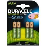 Rechargeable AAA NiMH Battery (HR03): 4 pack