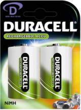Rechargeable D-Cell Alkaline Battery (HR20): 2 Pack