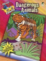 Dangerous Animals (Dover 3-D Coloring Book)