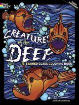 Creatures of the Deep Stained Glass Coloring Book Image