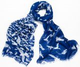 Blue Flock of Birds Scarf