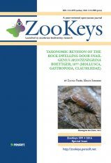 ZooKeys 599: Taxonomic Revision of the Rock-Dwelling Door Snail Genus Montenegrina Boettger, 1877 (Mollusca, Gastropoda, Clausiliidae)