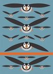 I Like Birds: Flying Puffins Spot & Jot Notebook