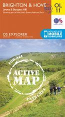 OS Explorer Map OL11: Brighton & Hove - Lewes & Burgess Hill