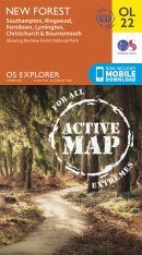 OS Explorer Map OL22: New Forest - Southampton, Ringwood, Ferndown, Lymington, Christchurch & Bournemouth