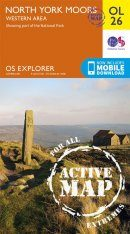 OS Explorer Map OL26: North York Moors - Western Area