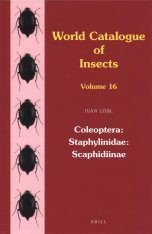 World Catalogue of Insects, Volume 16: Staphylinidae: Scaphidiinae (Coleoptera)