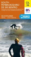 OS Explorer Map OL36: South Pembrokeshire / De Sir Benfro