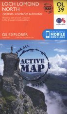 OS Explorer Map OL39: Loch Lomond North - Tyndrum, Crianlarich & Arrochar