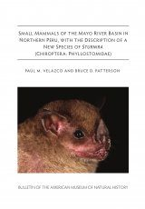 Small Mammals of the Mayo River Basin in Northern Peru, with the Description of a new Species of Sturnira (Chiroptera, Phyllostomidae)