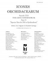 Icones Orchidacearum, Fascicle 17(1)