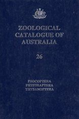 Zoological Catalogue of Australia, Volume 26: Psocoptera, Phthiraptera, Thysanoptera