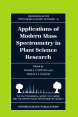 Applications of Modern Mass Spectroscopy in Plant Science Research