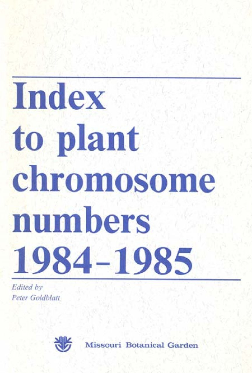 Index to Plant Chromosome Numbers, 1984-1985