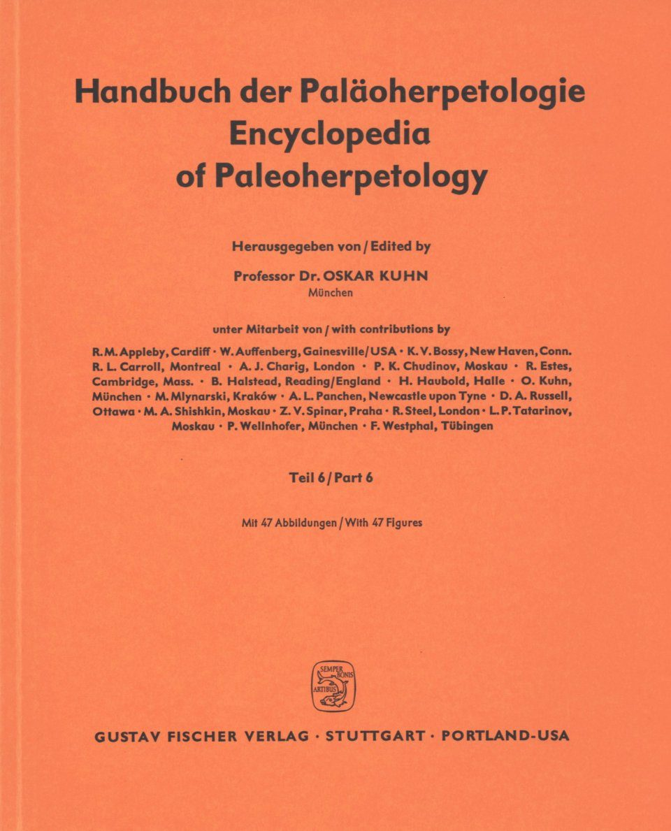Encyclopedia of Paleoherpetology, Part 6: Cotylosauria [German]