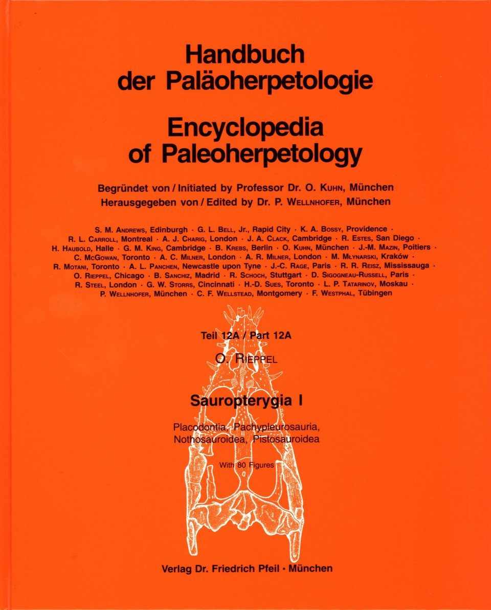 Encyclopedia of Paleoherpetology, Part 12A: Sauropterygia I