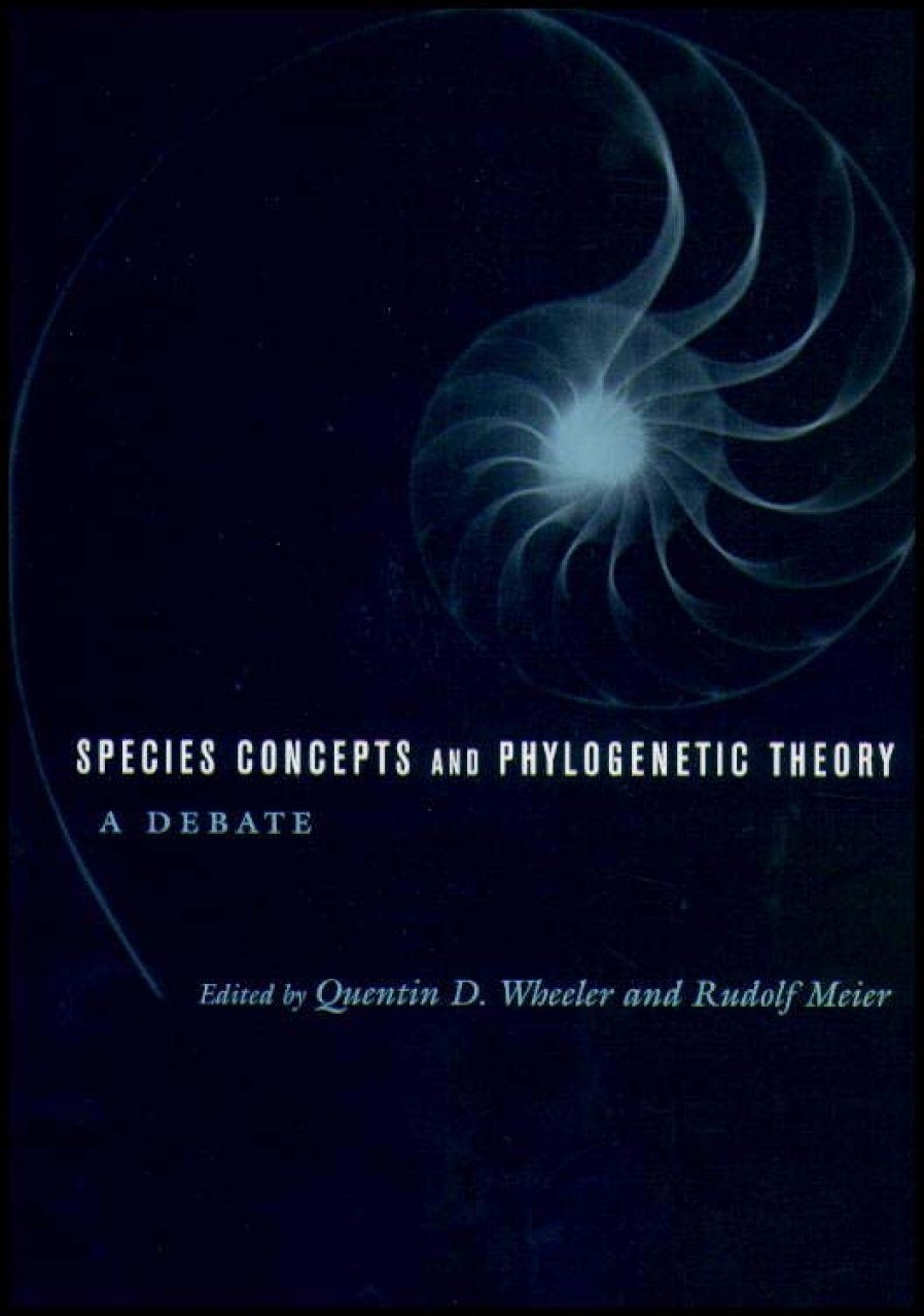 Species Concepts and Phylogenetic Theory