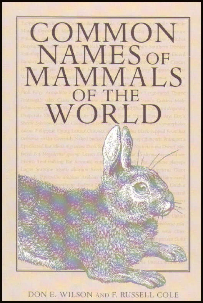 Common Names of Mammals of the World