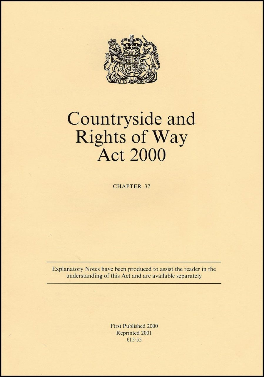 Countryside and Rights of Way Act 2000 - Chapter 37