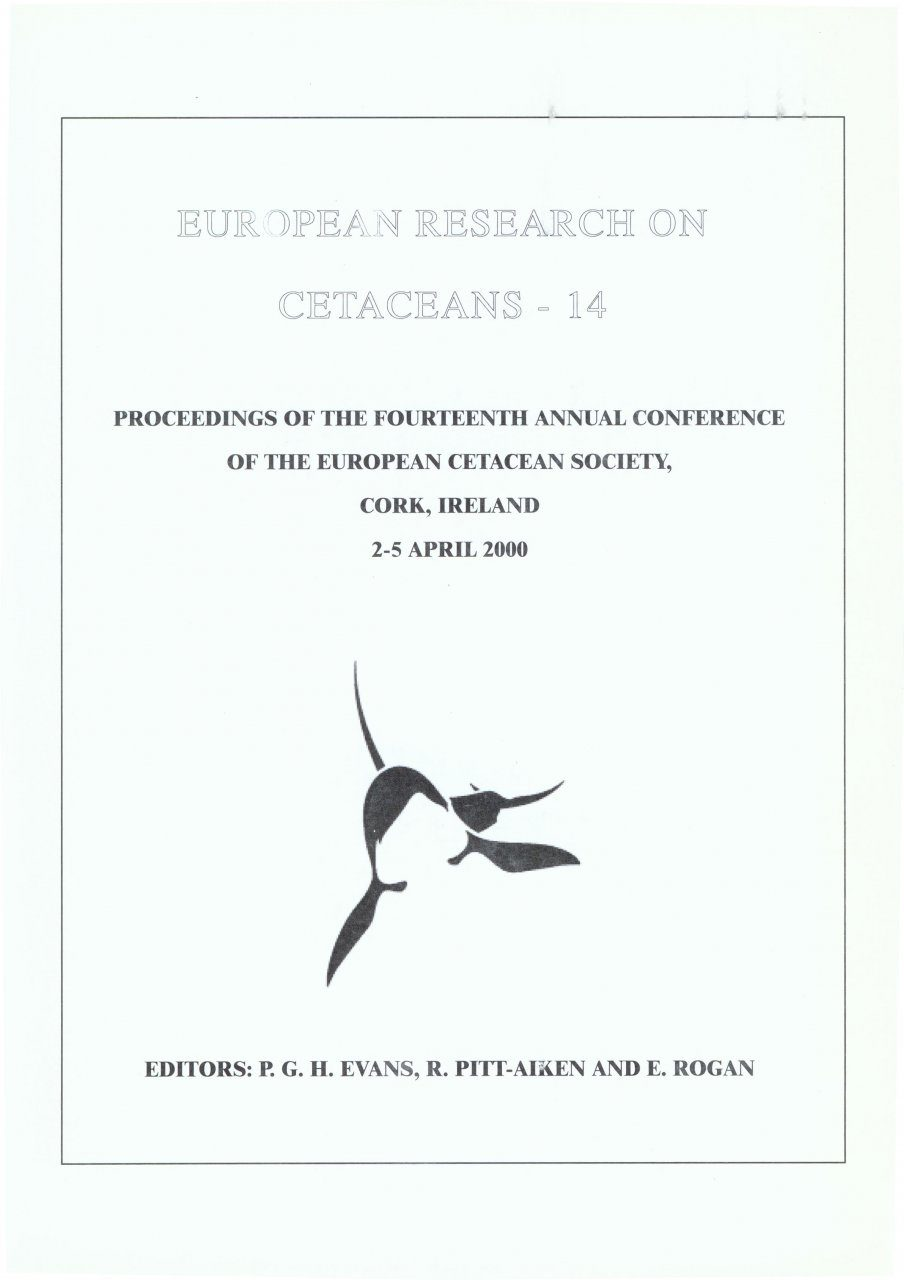 European Research on Cetaceans, Volume 14
