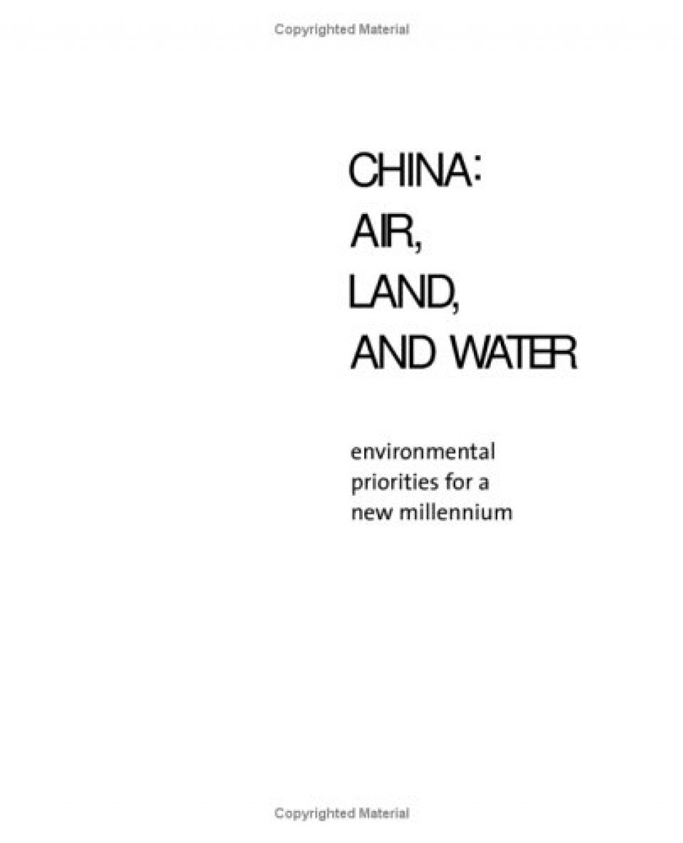 China: Air, Land, and Water