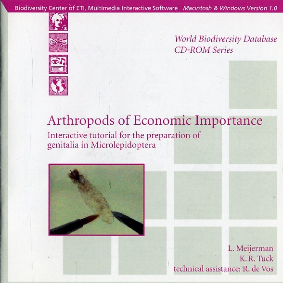 Arthropods of Economic Importance (CD-ROM) - Interactive Tutorial for the Preparation of Genitalia in Microlepidoptera