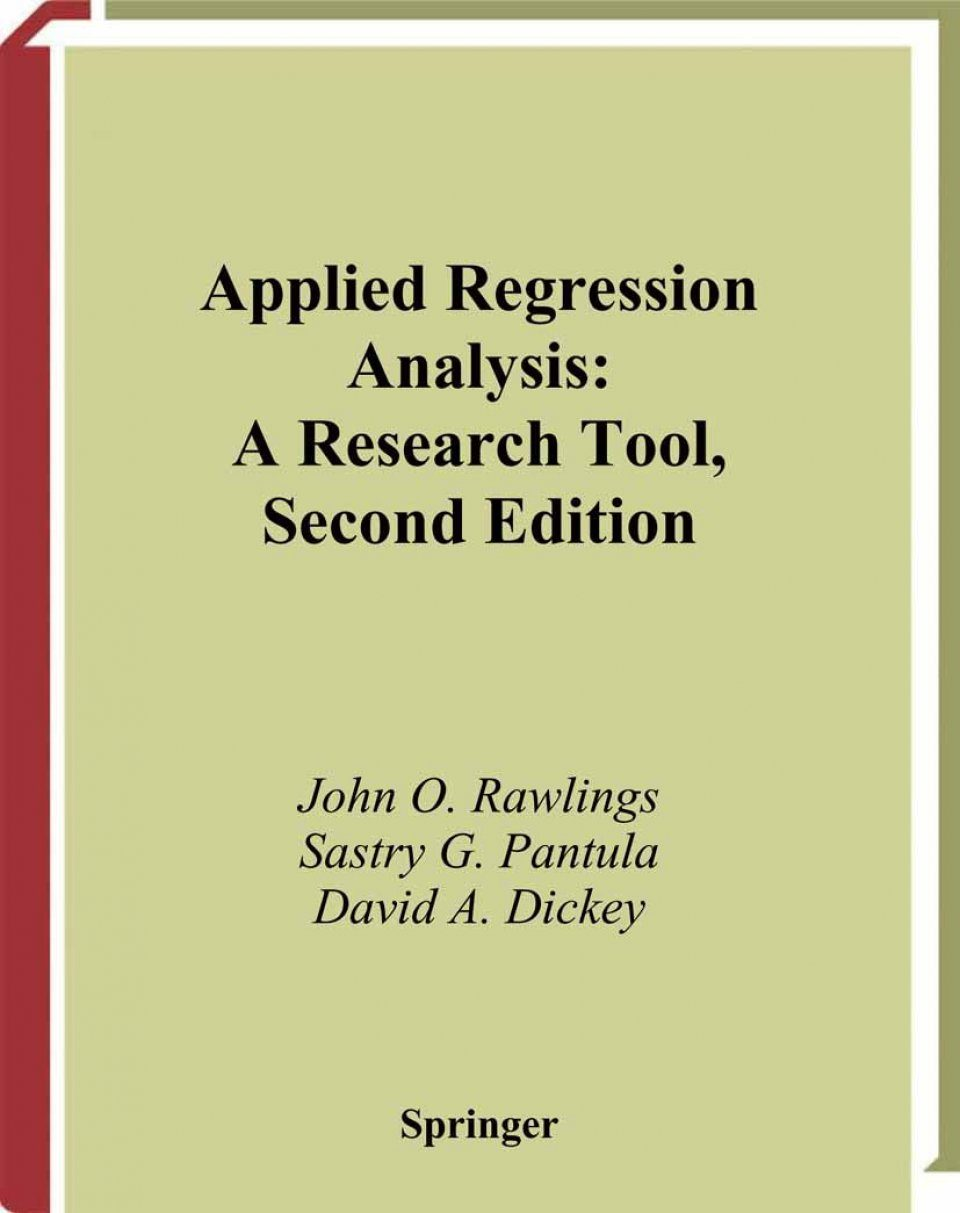 Applied Regression Analysis: A Research Tool