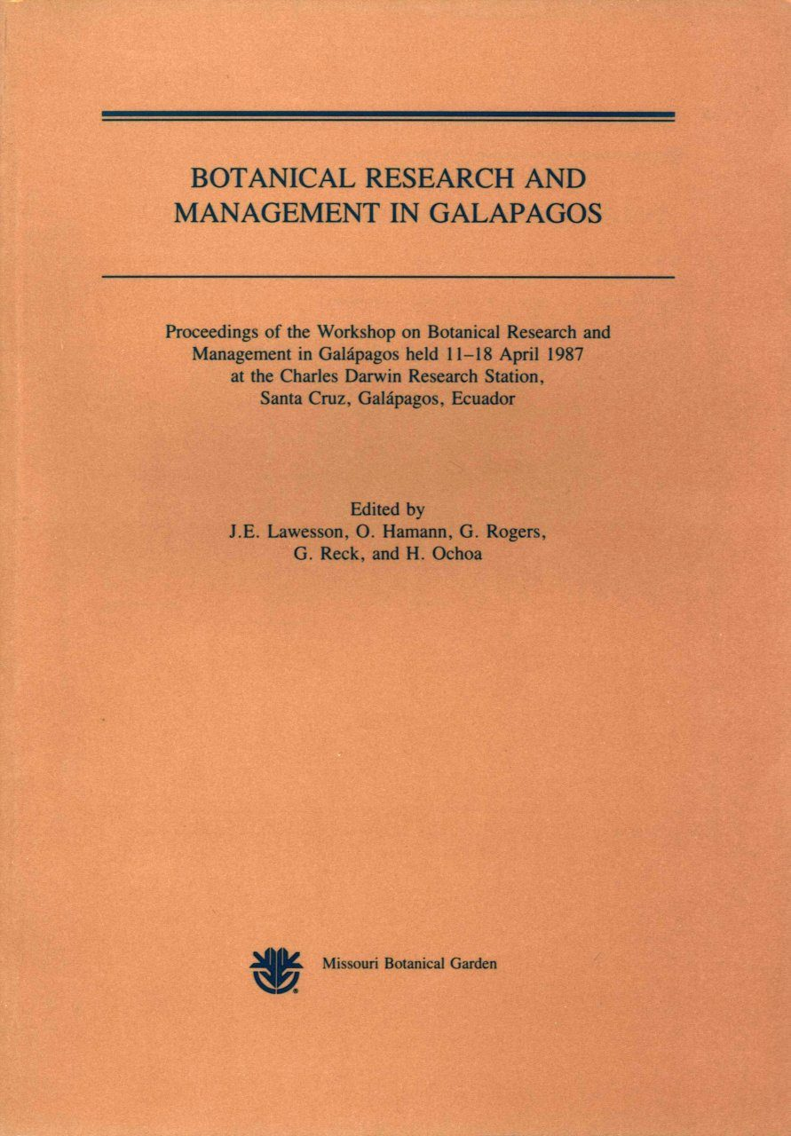 Botanical Research and Management in Galapagos