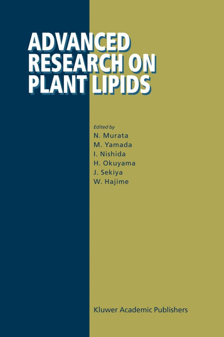 Advanced Research on Plant Lipids