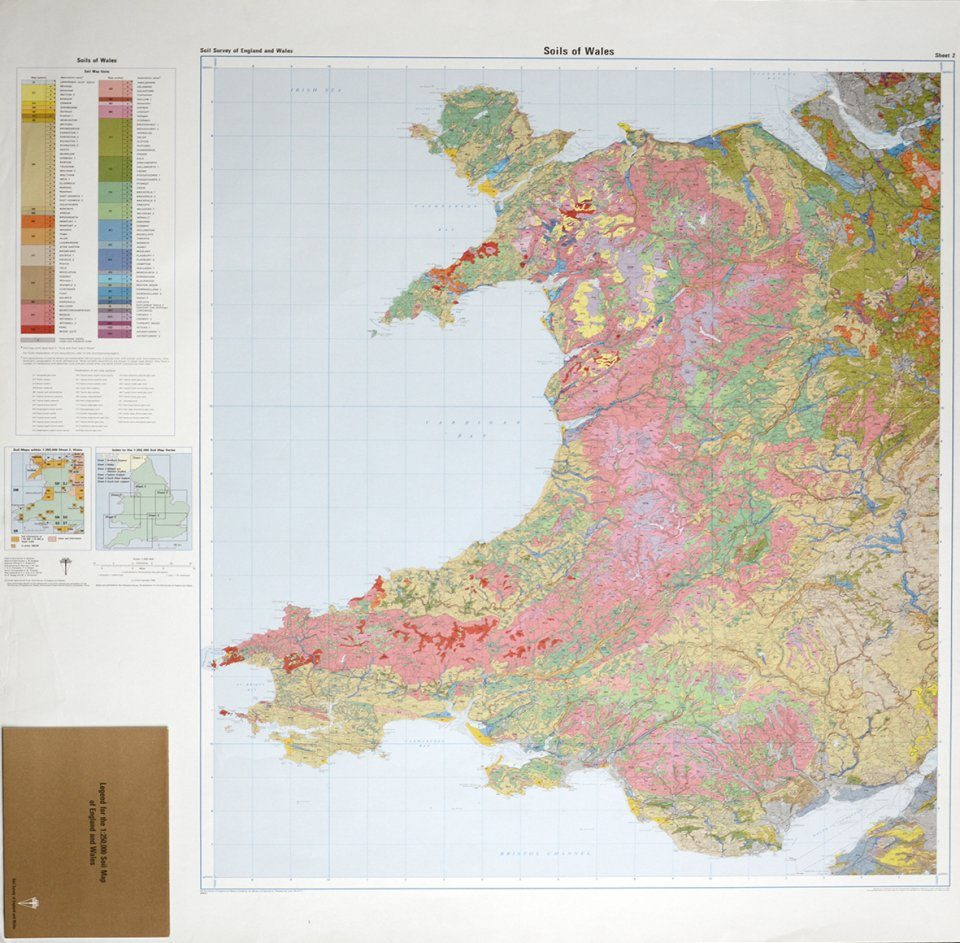 Soils of England and Wales, Sheet 2 (Flat): Wales